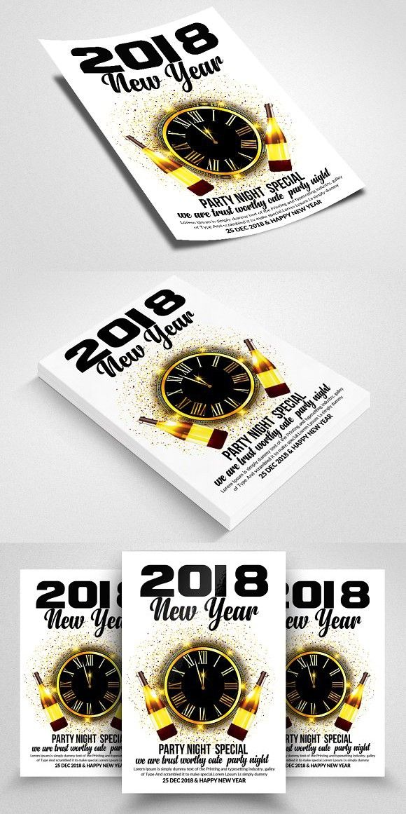 New Years Flyer / Poster | Flyer Templates | Pinterest | Business ...