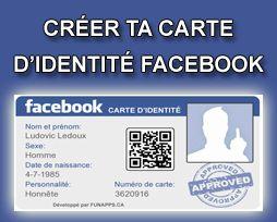 Creer Ta Carte D Identite Facebook Avec Images Carte D