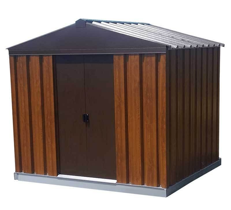 Woodgrain Metal Shed 10ft X 9ft Steel Sheds Shed Metal Shed