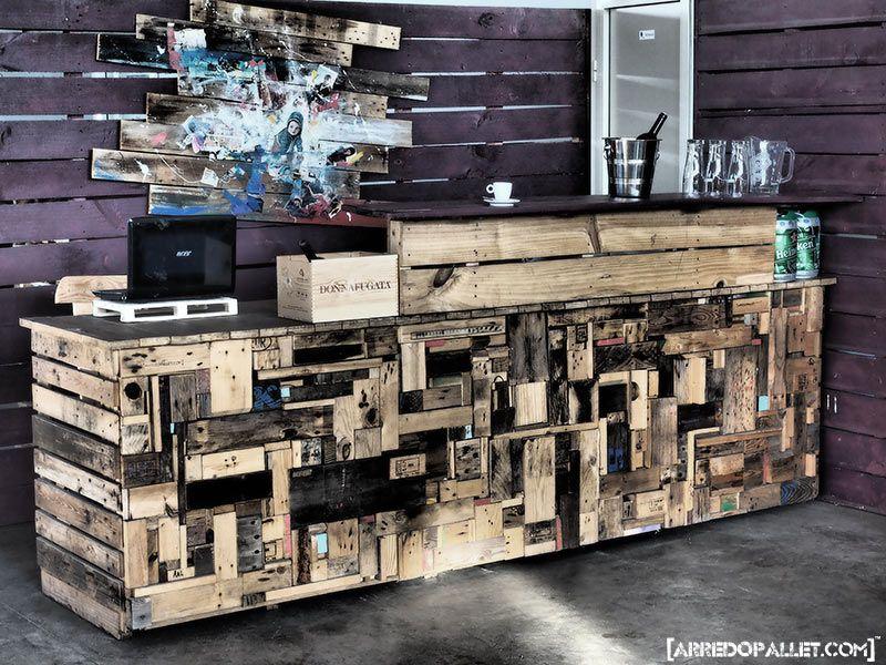 Mini bar en bois de palettes voici 20 idées créatives