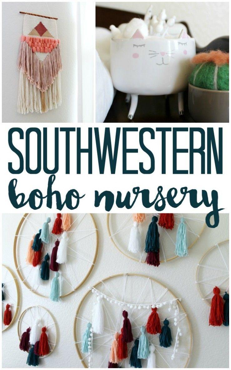 DIY Southwest Boho Nursery | Boho nursery, Nursery, Yarn ...