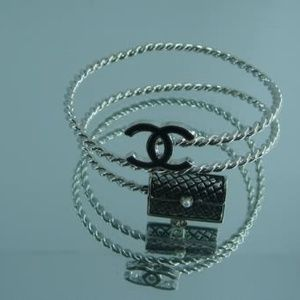 Chanel Inspired Bangle Chanel Inspired Silver Bracelet Charm