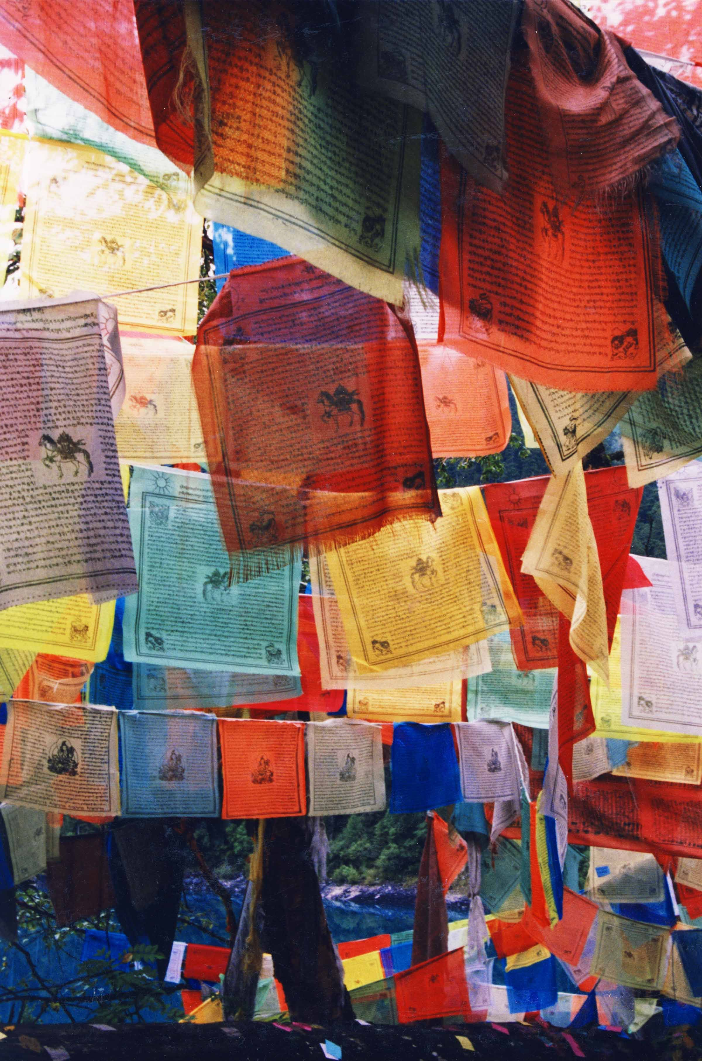 Tibetan Prayer flags are the newest addition to my apartment.