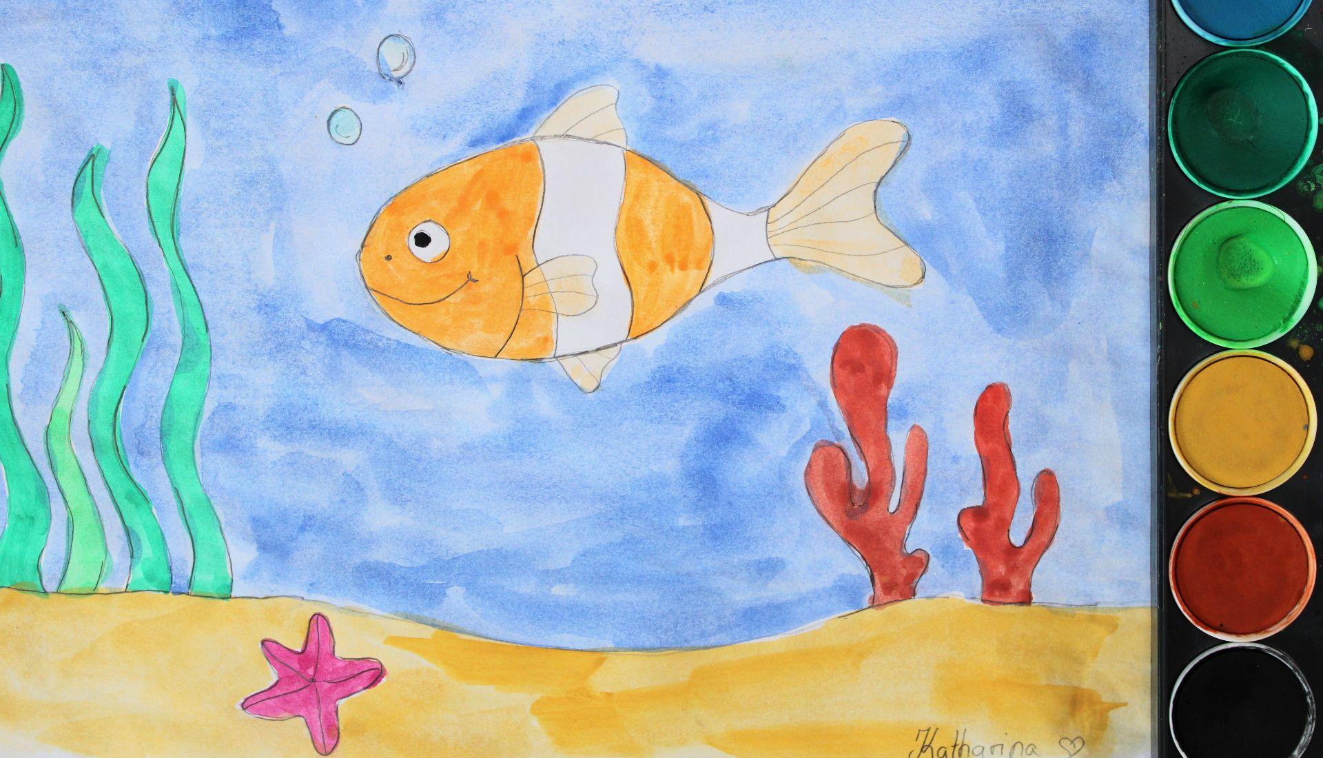 unterwasserwelt  malen lernen malen mit kindern
