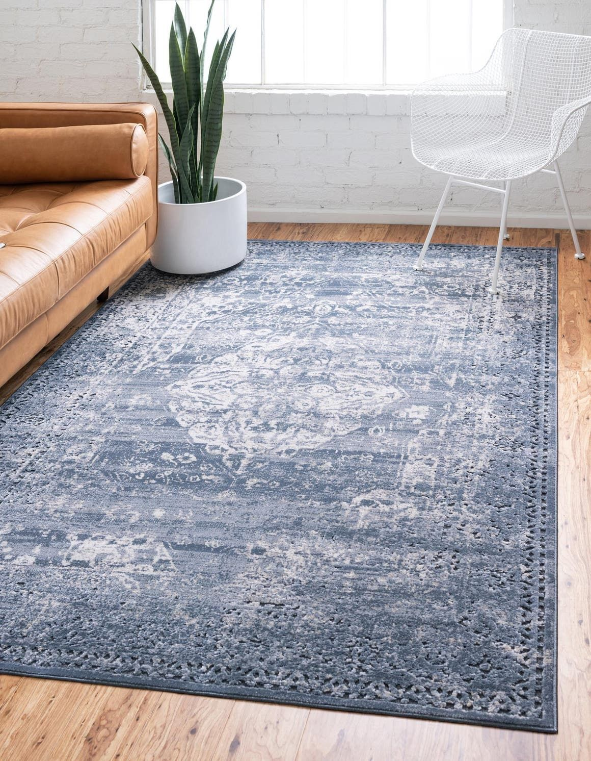 Graphite Gray Villa Area Rug Unique Loom Rugs Vintage Style Rugs