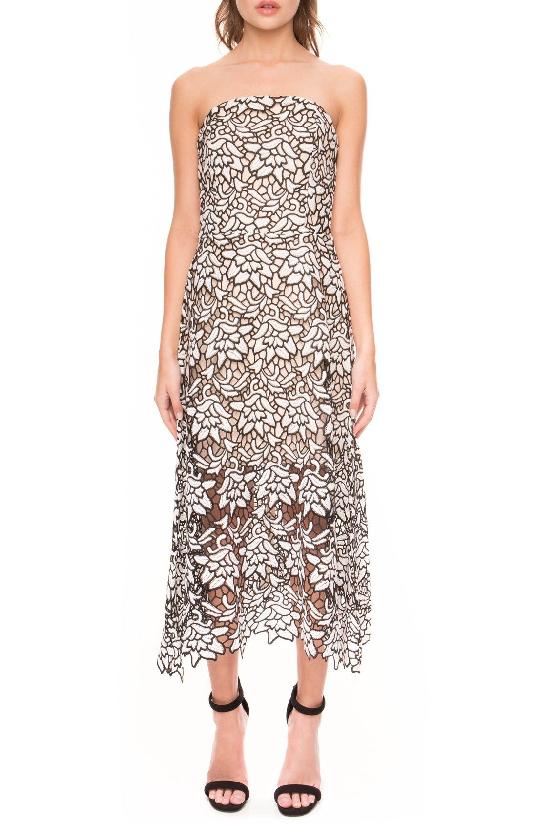 Keepsake The Label True Love Strapless Lace Dress Nordstrom Strapless Lace Dress Sheer Lace Dress Cocktail Dress Lace [ 1687 x 1100 Pixel ]