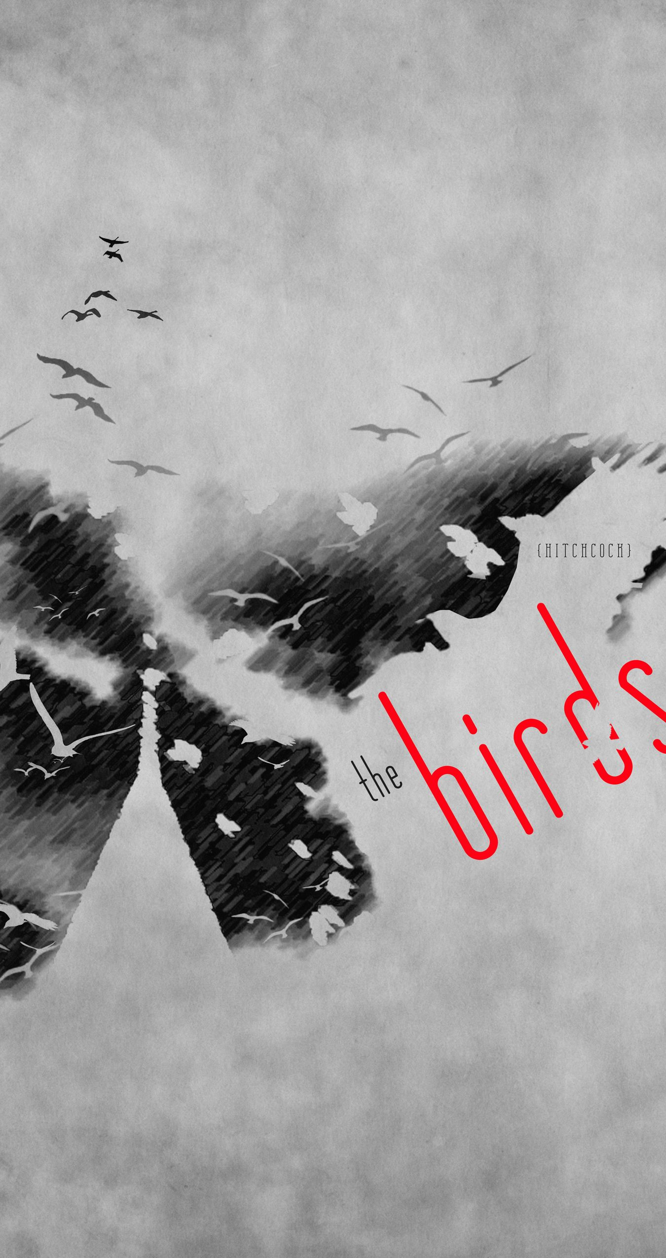 The Birds - Hitchcock   poster design