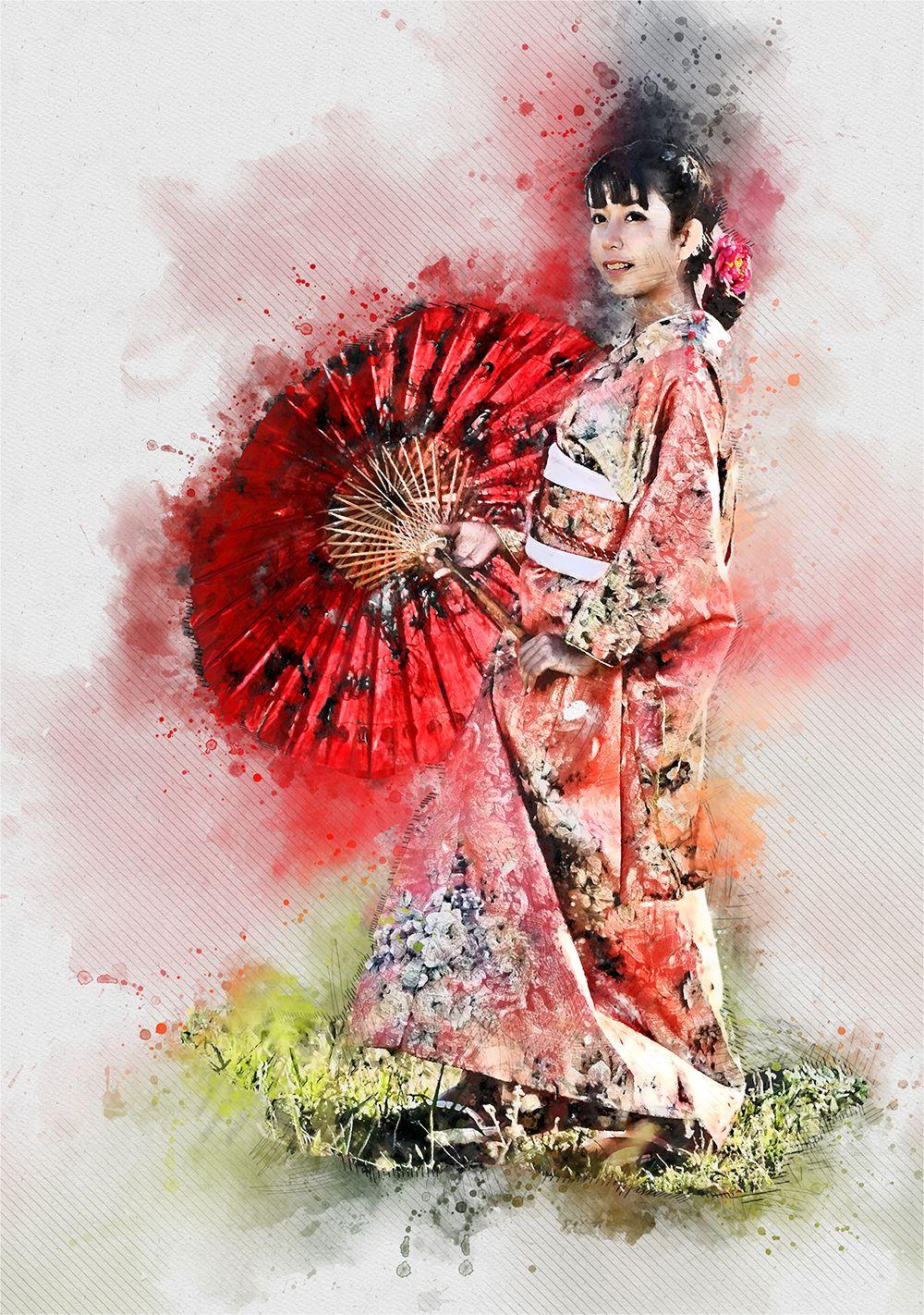 Watercolor Sketch Fx Photoshop Action Watercolor Sketch