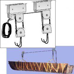 150 Lb Heavy Duty Garage Rafter Storage Pulley Hoist Kayak Storage Rack Kayak Storage Storage
