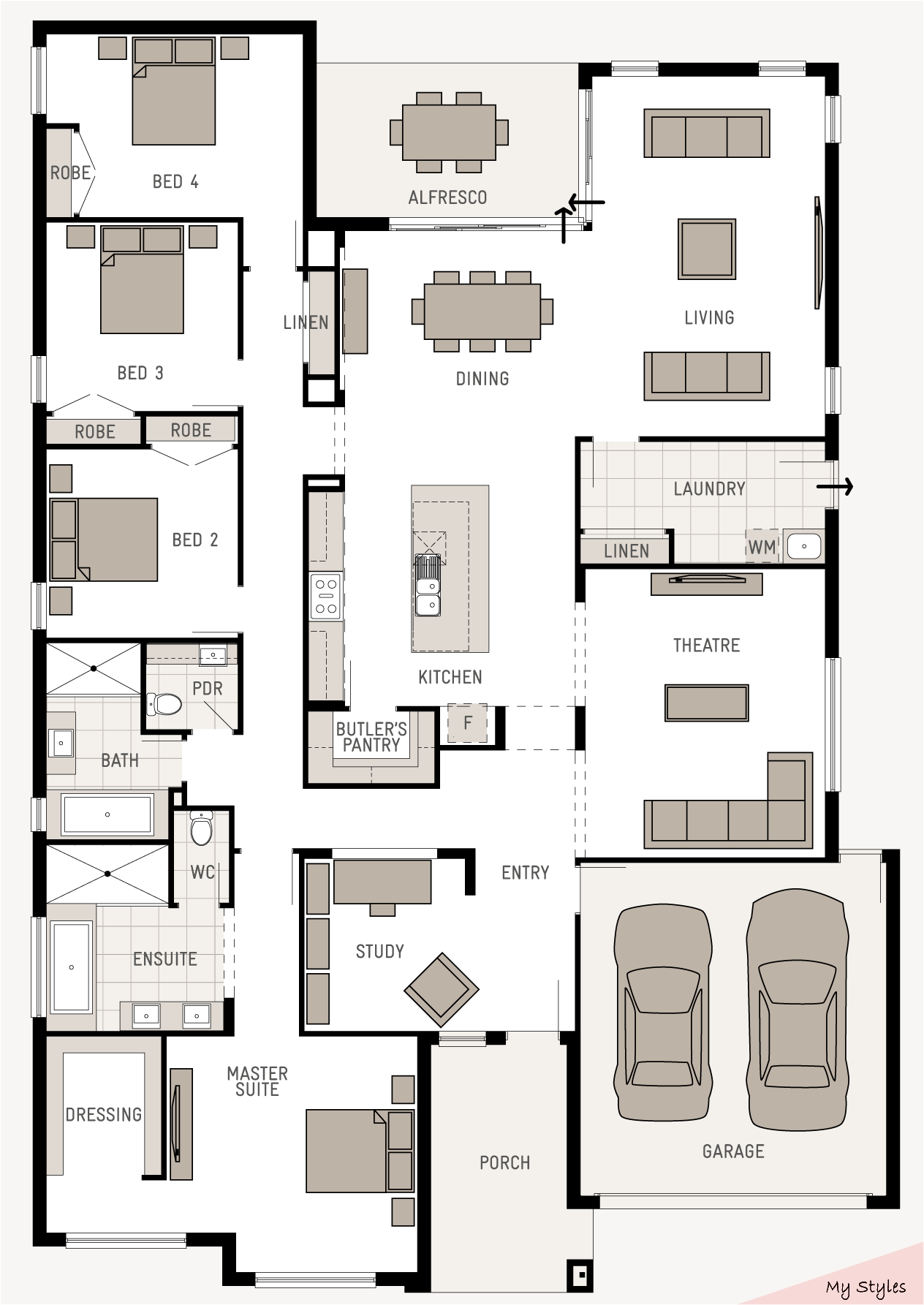 Floor Plan Friday Good Use Of Space Dream House Builder Dream House Bui Dream House Builder House Plans House Blueprints Dream House Plans