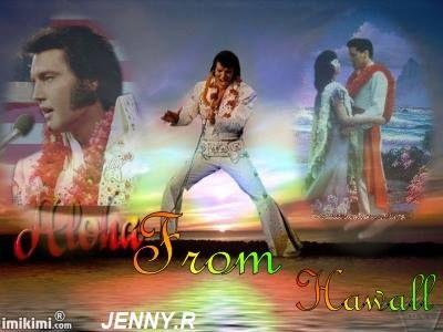 som man kan se på bilden så framträder Elvis med sin sång i Honolulu . Sånger som blå Hawaii
