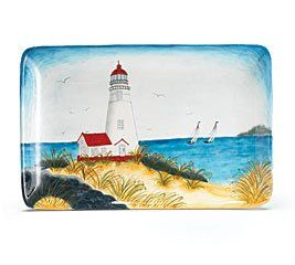 Lighthouse Kitchen Decor | ... Lighthouse Serving Platter Or Wall Decor  Great Home Decor