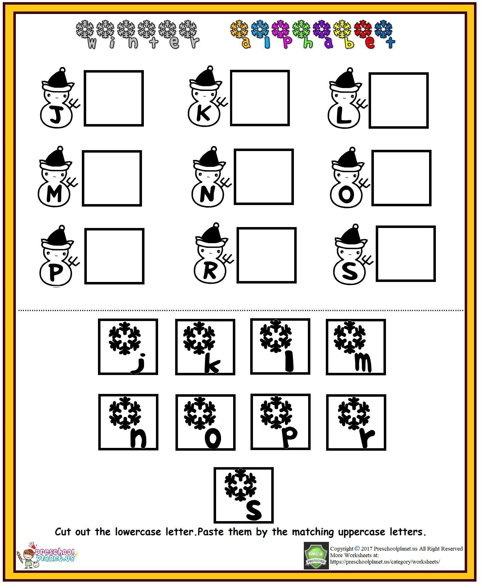 Alphabet Worksheet J S