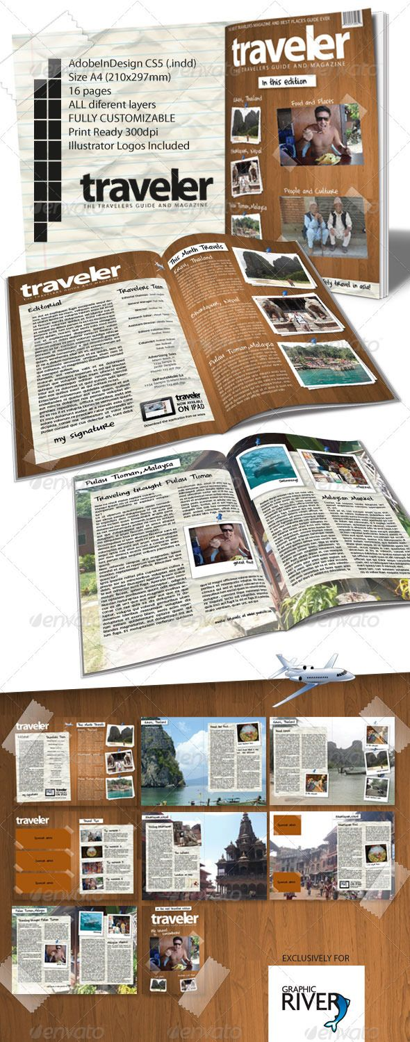 Circle Magazine Template-Indesign 24 Page Layout | Layouts, Template ...