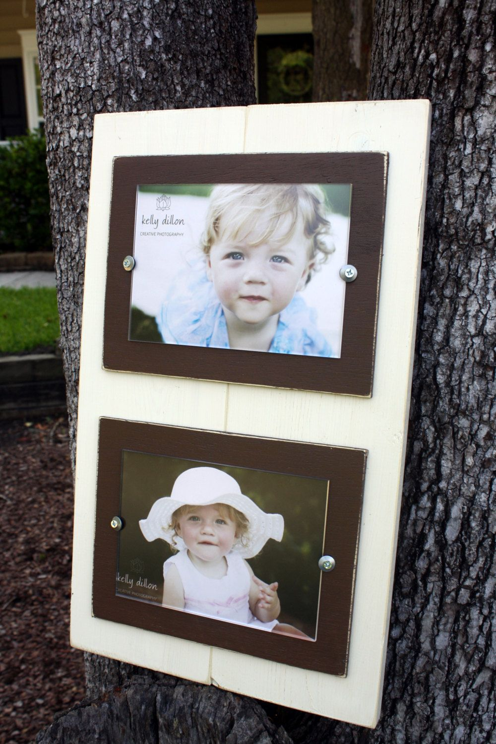 Double 5x7 Picture Frame, Distressed Picture Frame, Ivory Frames ...