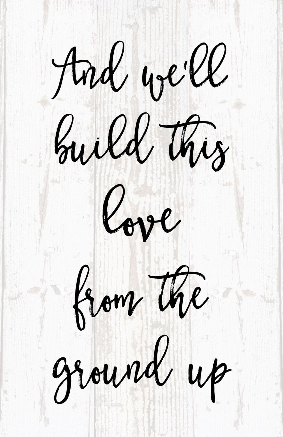 Love Quote Signs Wedding Song ❤  A Home Is Built With Love & Dreams  Pinterest