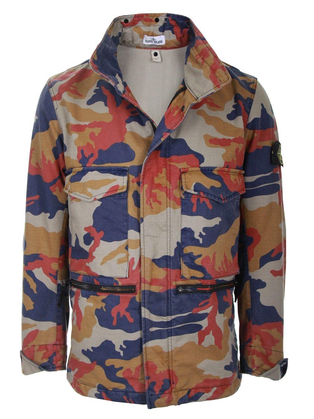 Stone Island Jacket Camouflage Lederjacke Manner Taktische Kleidung Manner Outfit