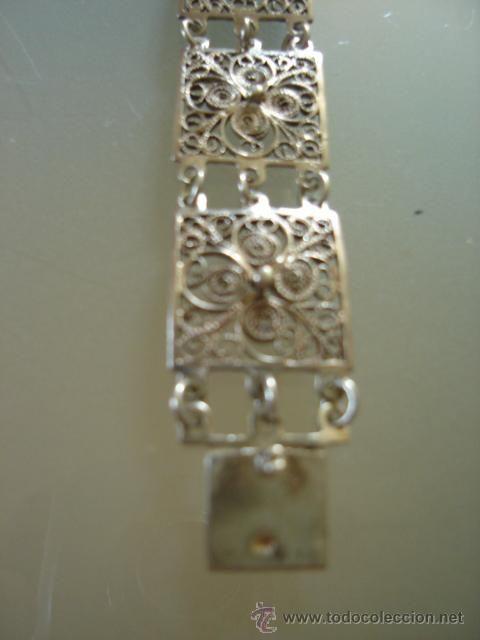 26e476bcb8d8 pulsera de filigrana antigua en plata