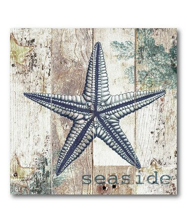 Take a look at this Seaside I Canvas Wall Art by COURTSIDE MARKET on #zulily today!