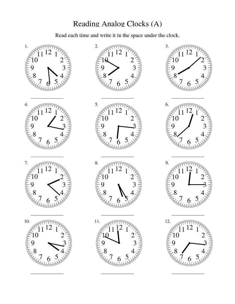 Blank Clock Worksheet Reading Analog Clocks 001 In 2020 Time Worksheets Telling Time Worksheets Clock Worksheets