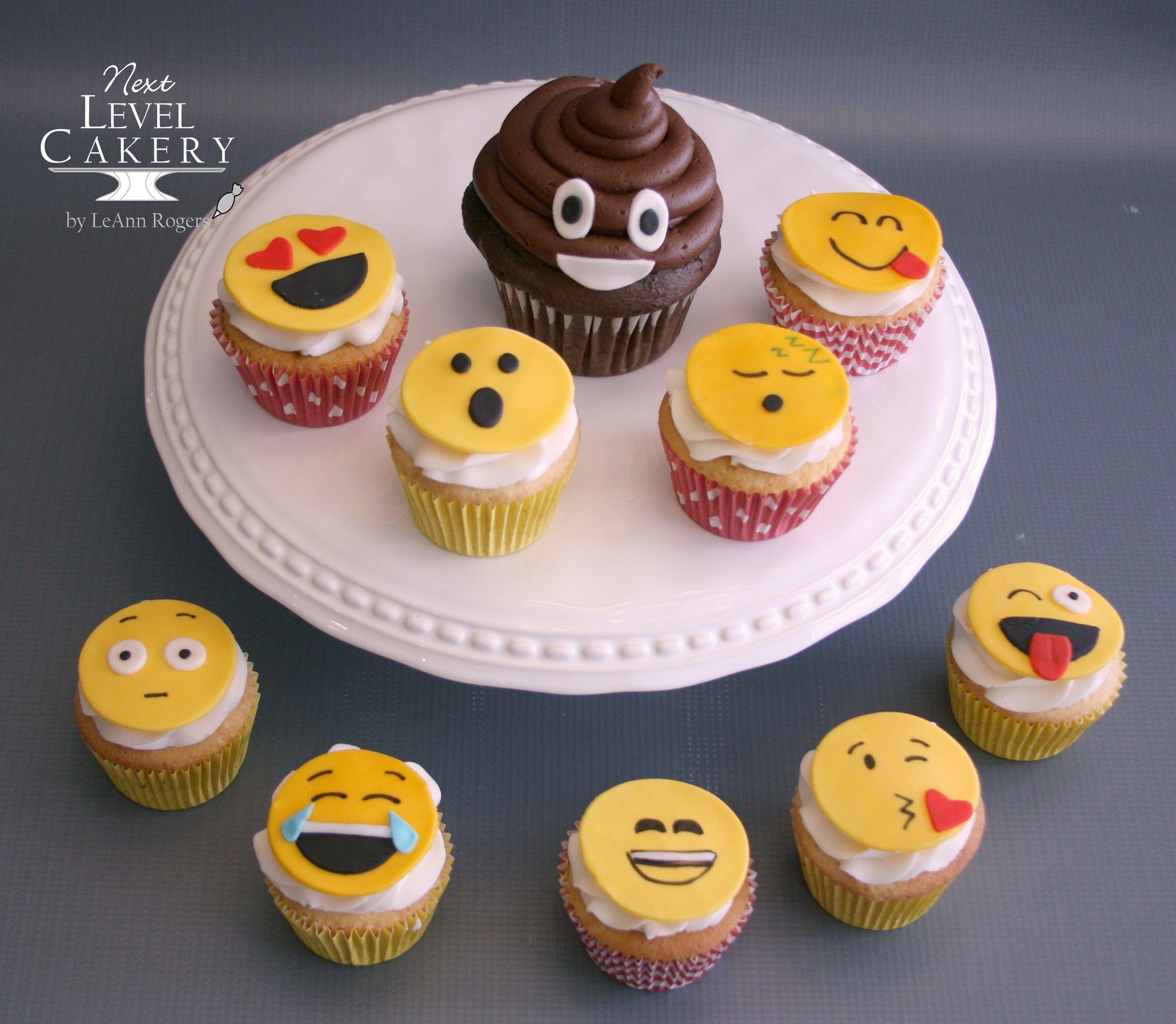 Emoji Cupcakes Next Level Cakery Cakes Pinterest Custom Cake