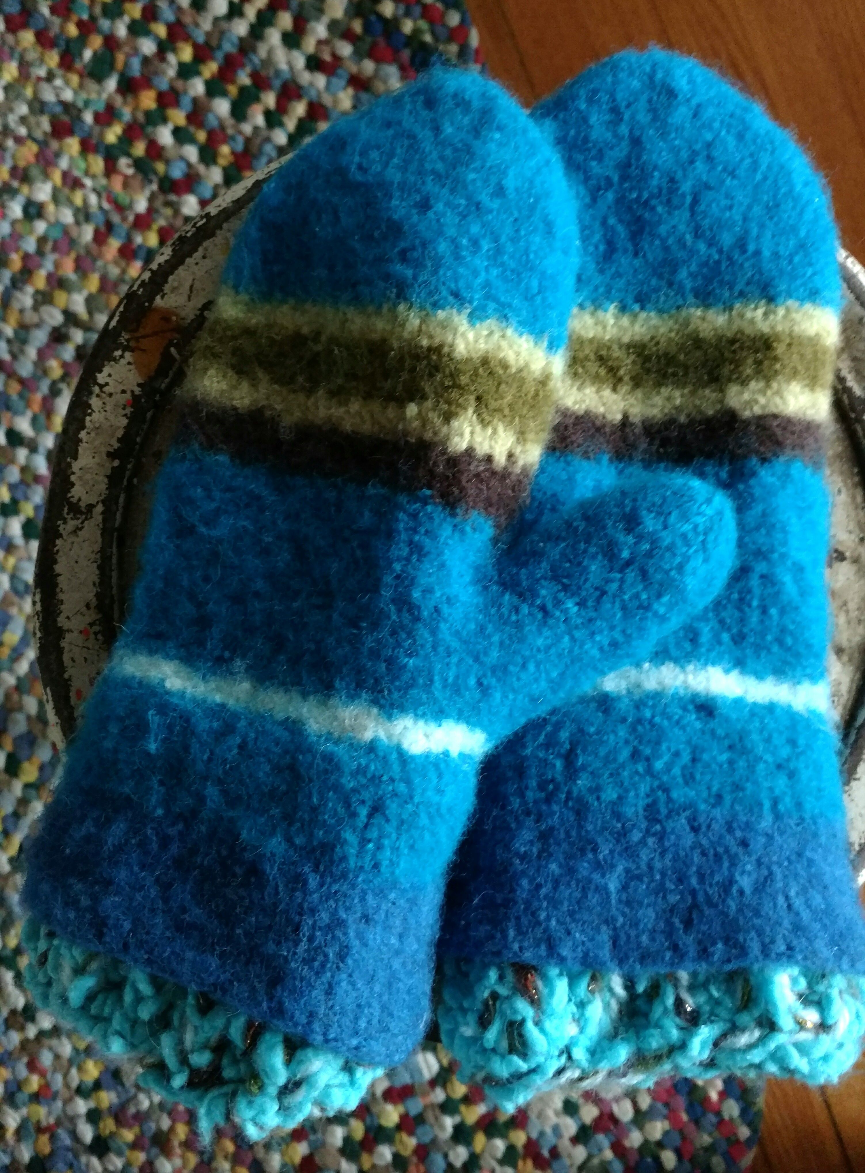 My Felted Mittens The Pattern Is From Knit One Felt Too They Are