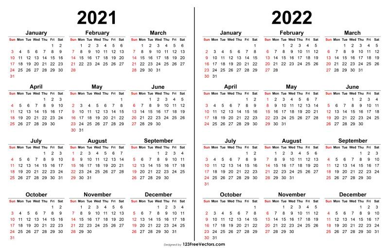 2022 Pocket Calendar Printable.Free 2021 2022 Calendar Printable Yearly Calendar Calendar Printables Print Calendar
