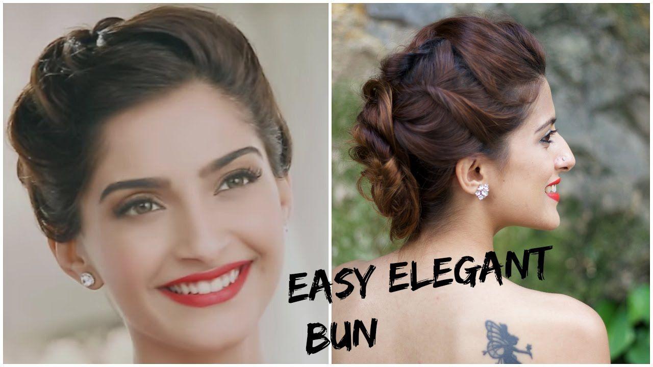 sonam kapoor's glamorous hairstyle-5 minute romantic bun
