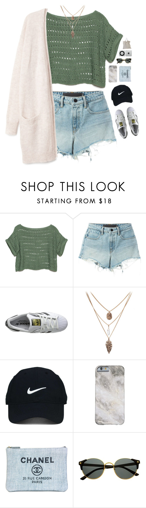 """SR'16🌻"" by messyqueen ❤ liked on Polyvore featuring Alexander Wang, adidas Originals, Nike Golf and Chanel"