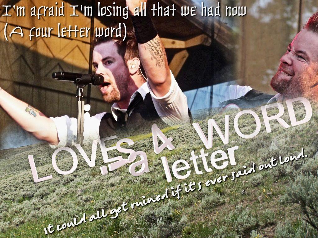 Love Is A 4 Letter Word David Cook Music Lyrics Pinterest