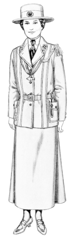 Flat Juliette Gordon Low Girl Scout Founder Coloring Page