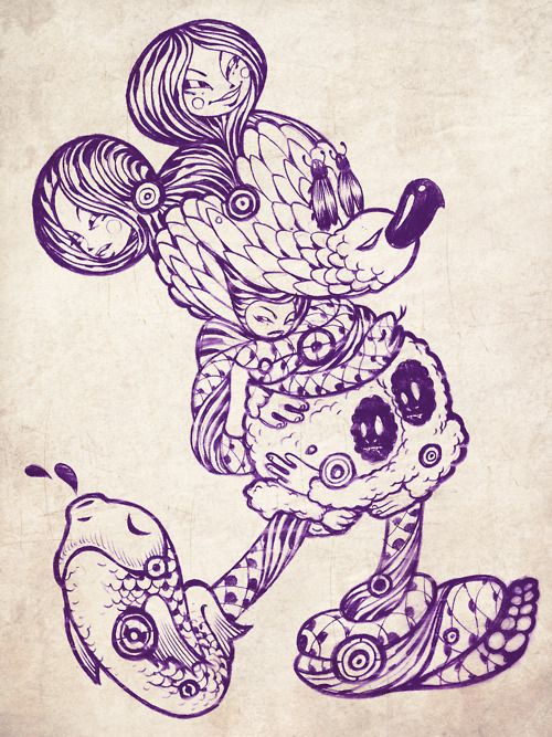 Artist Tristan Eaton- Mickey mouse doodle