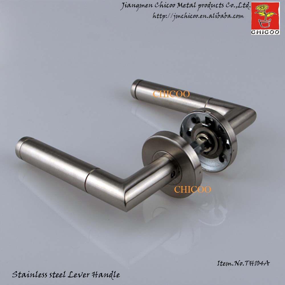 Modern Door Ironmongery Stainless Steel 304 Door Handles Gate Handles Industrial Door Lever Handle Door Handles Lever Door Handles Sliding Glass Door