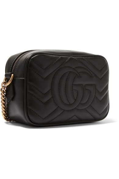Gucci Gg Marmont Camera Mini Quilted Leather Shoulder Bag - Black ... 74f81fc63c1c