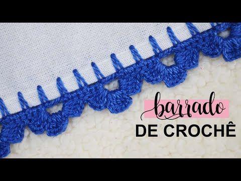 Barrado De Croche Carreira Unica Facil Rapido E Economico