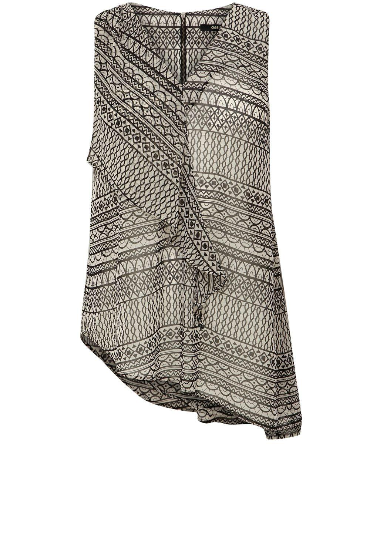 Oasis Abstract Crochet Print Top