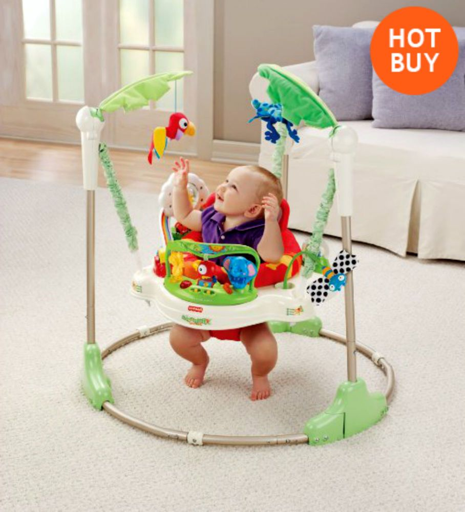 Baby Rainforest Jumperoo Bouncer Jumper Activity Play Fun Fisher Price Seat New Jumperoo Fisher Price Jumperoo Baby