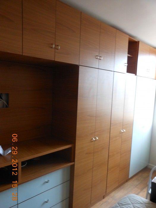 Custom Bedroom Wall Unit w Doors, Drawers & TV Space | Bedrooms ...