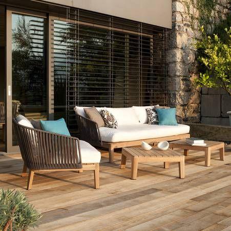 les 25 meilleures id es de la cat gorie salon de jardin teck sur pinterest salon jardin teck. Black Bedroom Furniture Sets. Home Design Ideas