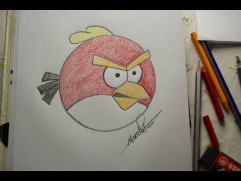How To Drawing Angry Bird For Kids Drawing For Kids Birds For Kids Drawings