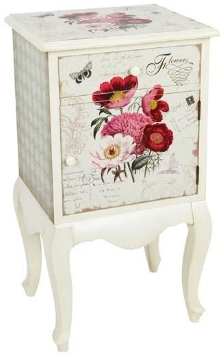 Comodino provenzale dipinto etnico outlet mobili etnici painted furniture decoupage - Mobili decoupage ...