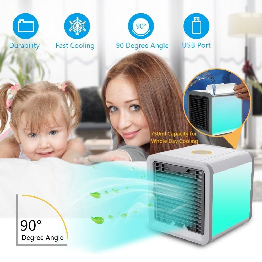 Portable Mini Air Cooler Ice Water Conditioner Evaporator