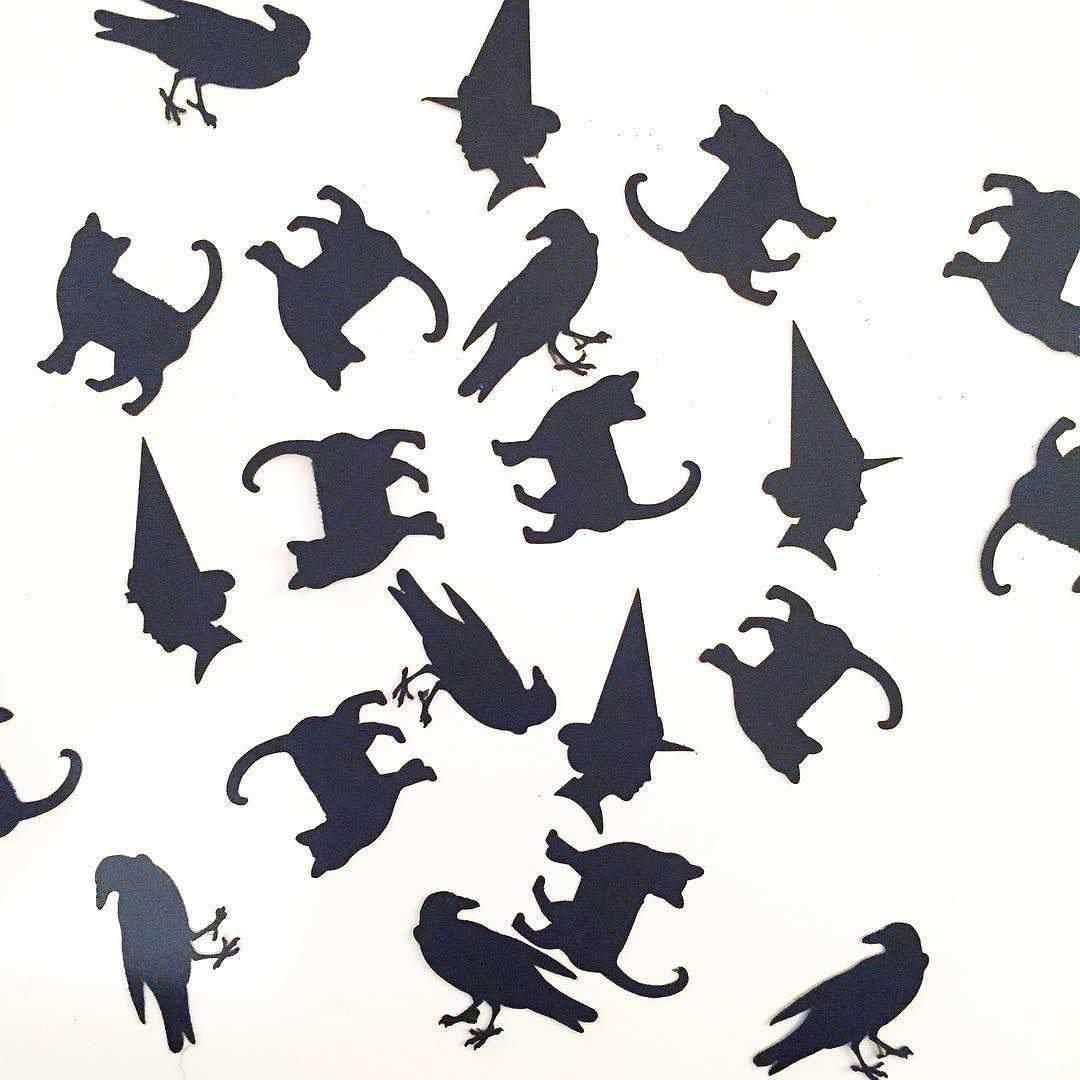 Witches! Your boxes are on broomsticks on their way to you! Let me know when you get them!  #witches #witchplease #cats #raven #silhouette #cricut #cutout #black #witchcraft #crafts #craftlife #cratejoy #subscriptionbox #subbox #paper #crafty