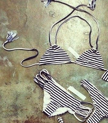 Acacia swimwear. Sailor stripes. got the bottoms just need the top now