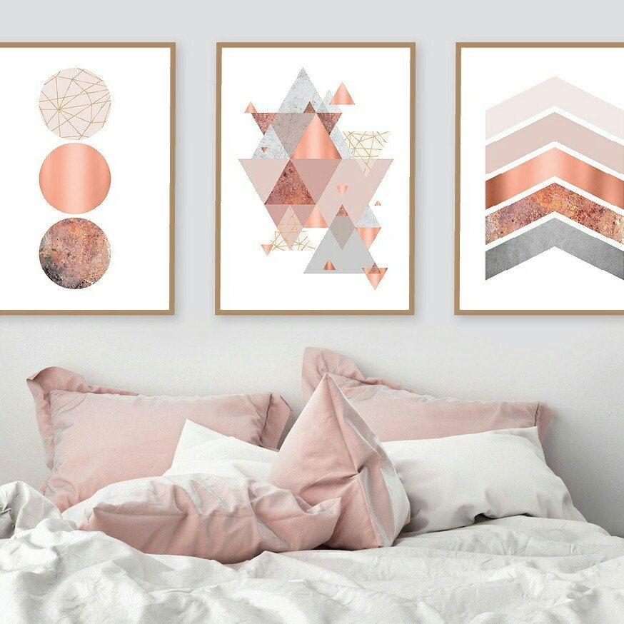 Printable Art Downloadable Prints Set Of 3 Prints Wall Etsy Rose Gold Bedroom Gold Bedroom Gold Rooms