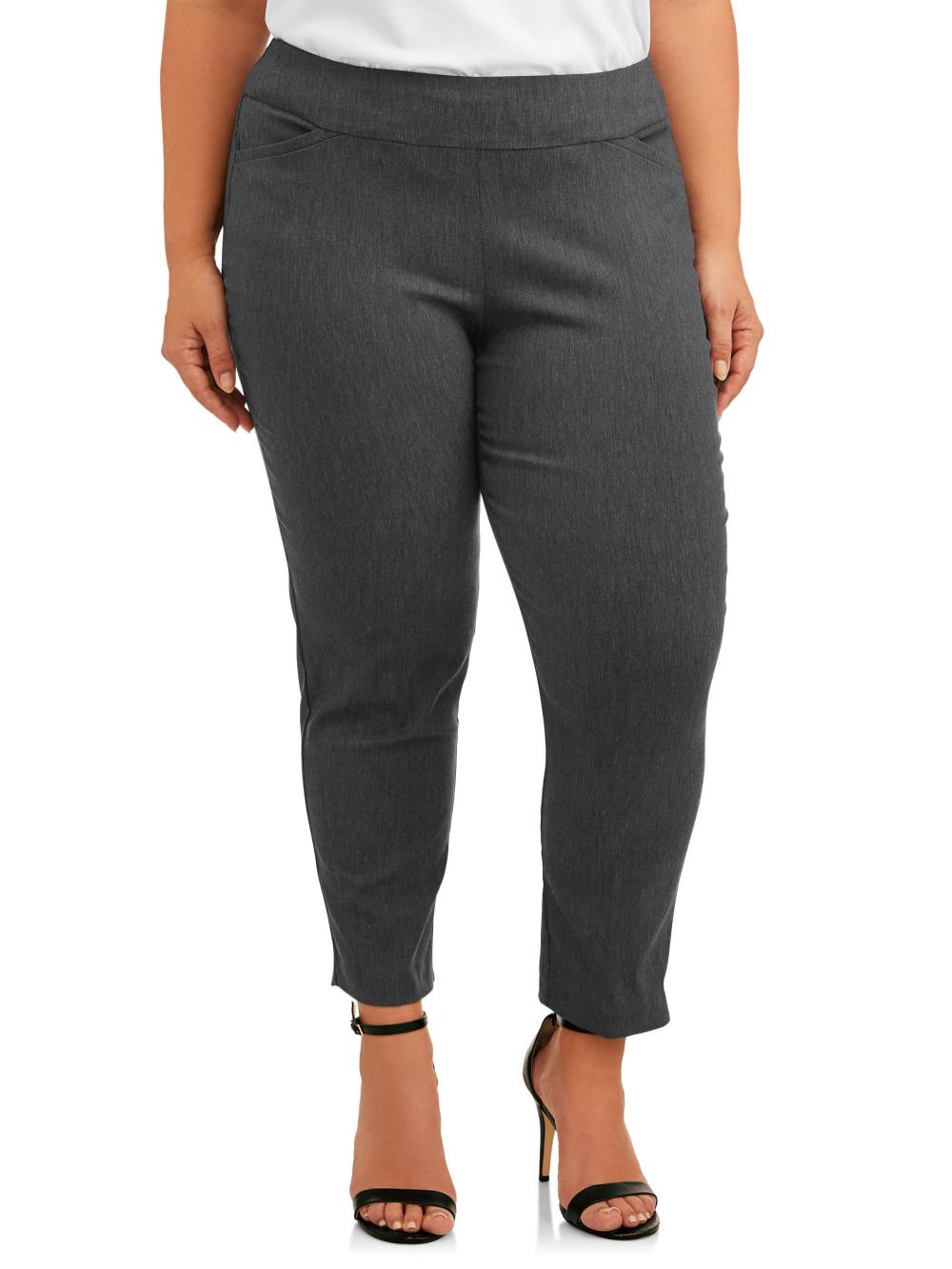 Terra Sky Terra Sky Women S Plus Size Woven Dress Pant Petite Walmart Com Dress Pant Woven Dress Stylish Pants Women [ 1333 x 1000 Pixel ]