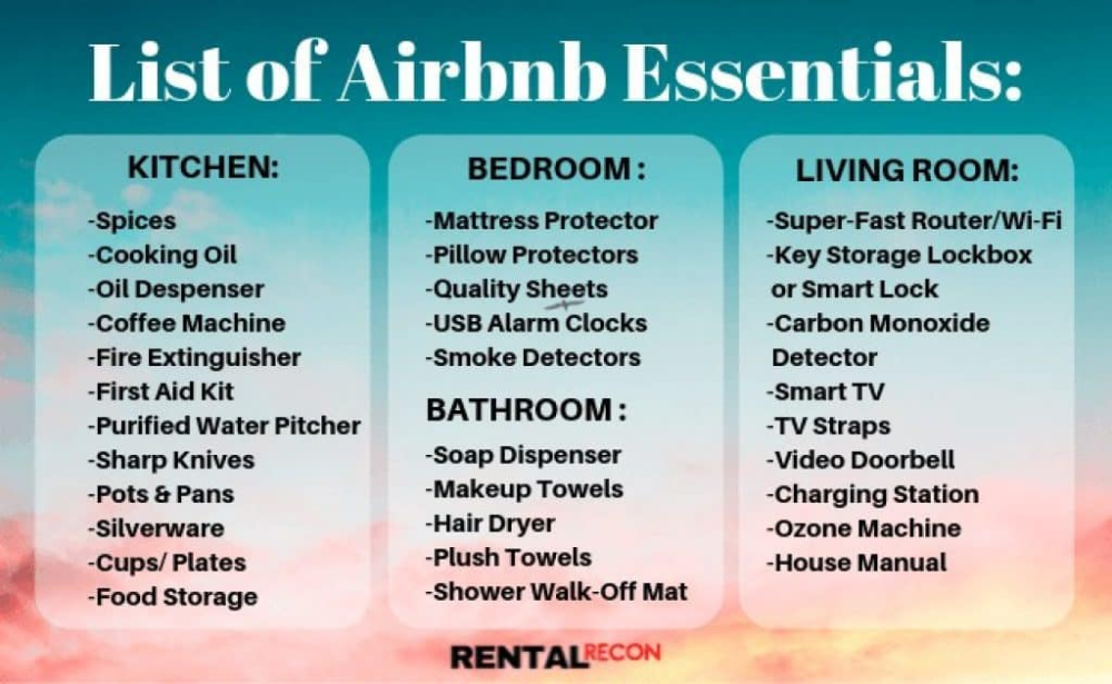 75 Crucial Airbnb Essentials, Supplies & Products for ...