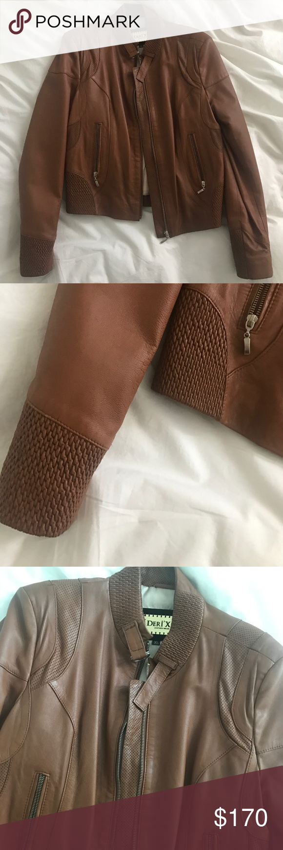 High Quality Leather Jacket from Turkey. BRAND NEW Brown