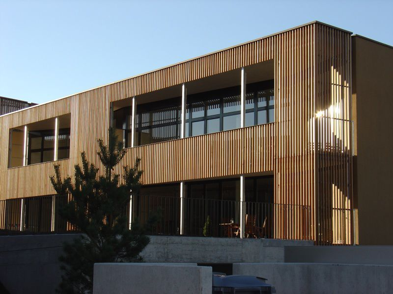 Wooden Cladding Grooved Panel Allschwil Haring