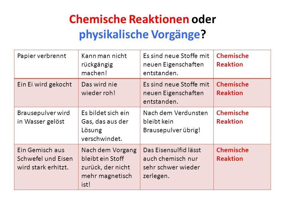 20 Arbeitsblatt Für Physikalische Und Chemische Veränderungen ...